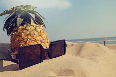 Enjoy pineapple investment income