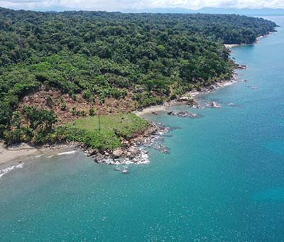 Caribbean beach front lots for sale Panama